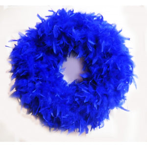 Royal Blue Feather Wreath