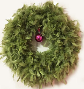 Apple Feather Wreath