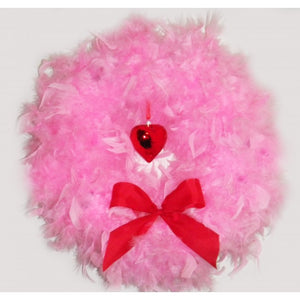 Valentine's Pink Feather Wreath
