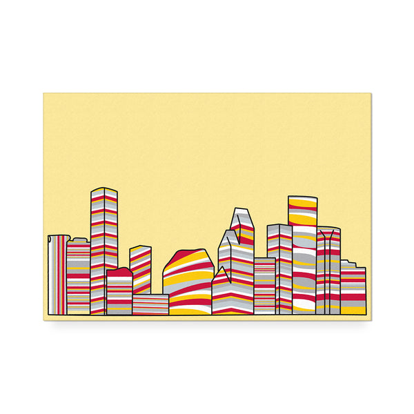 Striped Skyline Print Red/Yellow