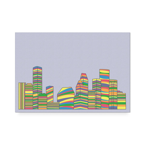 Striped Skyline Art Print Pride