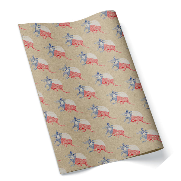 Texas Armadillo Wrapping Paper