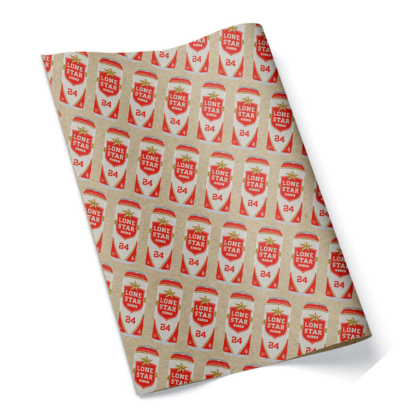 Lone Star Beer Wrapping Paper