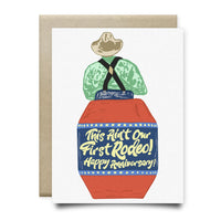 Not Our First Rodeo Anniversary Card - Cards