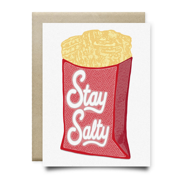 Stay Salty (Waffle Fries Card) - Cards