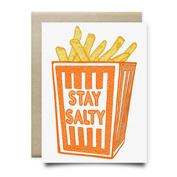 Stay Salty (Orange Box Fries Card) - Cards