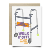 Walk It Off Birthday Card