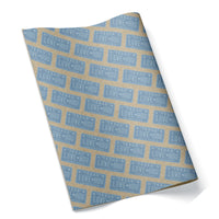 LOVE HOU Texas License Plate Wrapping Paper Luv Ya Blue
