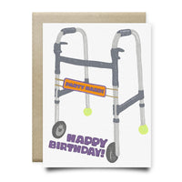 Party Hard Walker Birthday Card
