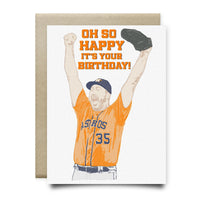 Verlander Oh So Happy Birthday Card