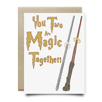 You Two are Magic Together Wedding Anniversary Card