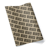LOVE HOU Texas License Plate Wrapping Paper Black