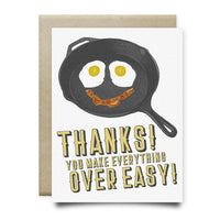 You Make Everything Over Easy Thank You Card