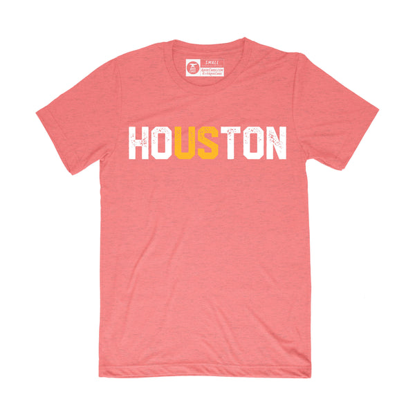 HoUSton Shirt | Rockets Orange and White on Red