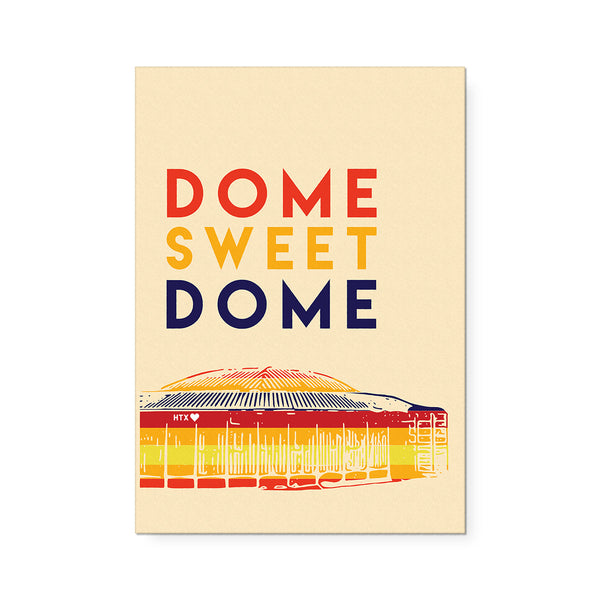 Dome Sweet Dome Art Print Orange