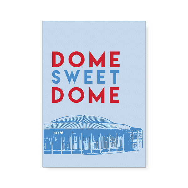 Dome Sweet Dome Art Print Blue