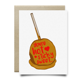 Hot, Sticky Sweet Candy Apple Greeting Card