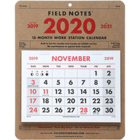 Field Notes 15 Month Work Station Calendar