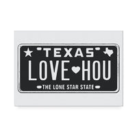 Love HOU Black Art Print