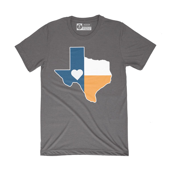 Texas Flag T-Shirt | Astros Orange and Blue