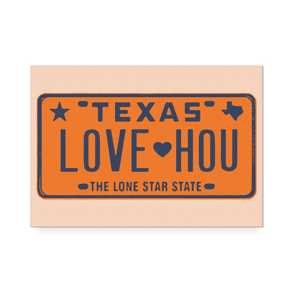 Love HOU Orange Art Print