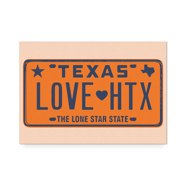 Love HTX Orange Art Print