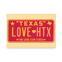 Love HTX Red Art Print