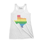 Pride Texas Women's Tank - White