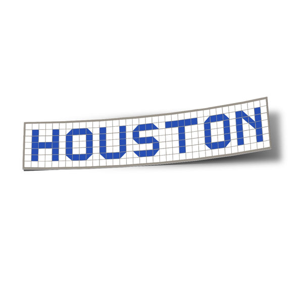Houston Blue Tiles Sticker