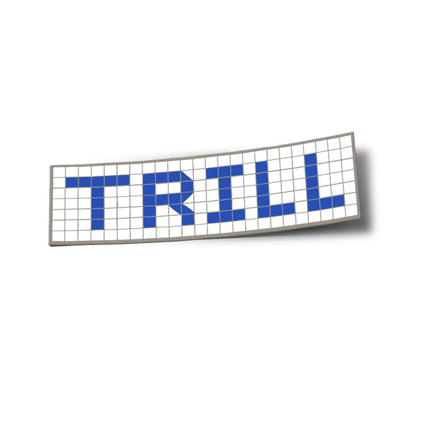 Trill Blue Tiles Sticker