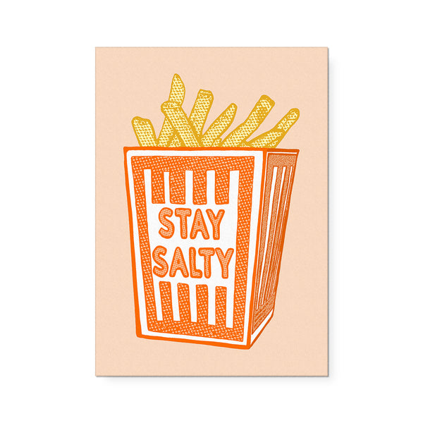 Stay Salty Orange Box Print