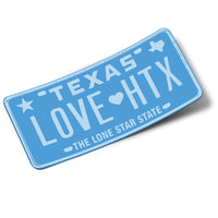 LOVE HTX Luv Ya Blue Sticker