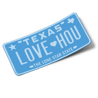 LOVE HOU Luv Ya Blue Sticker