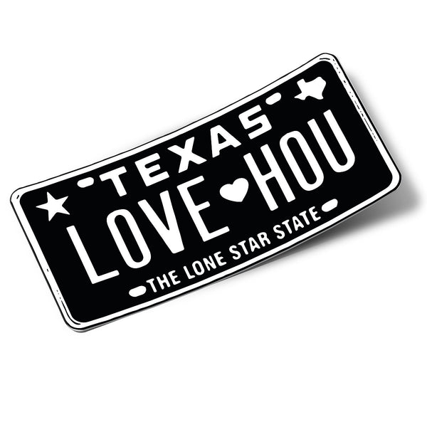 LOVE HOU Black Sticker