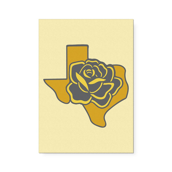 Texas with Yellow Rose Art Print