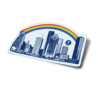 Houston Rainbow Skyline Sticker