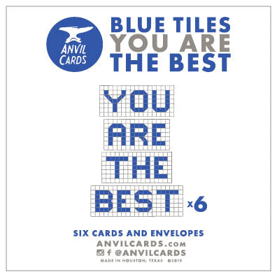 Houston Blue Tiles You Are the Best Bundle