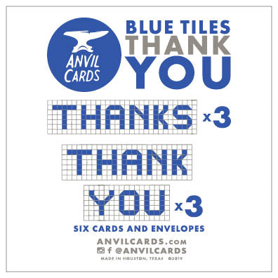 Houston Blue Tiles Thank You Bundle
