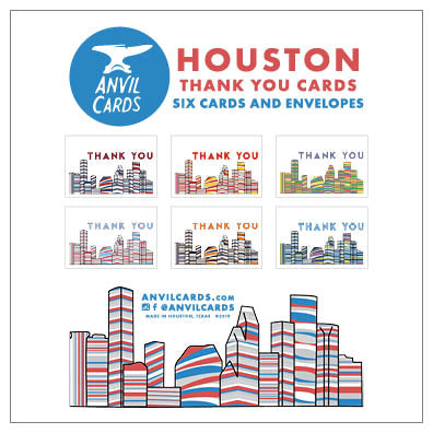 Houston Skylines Thank You Bundle