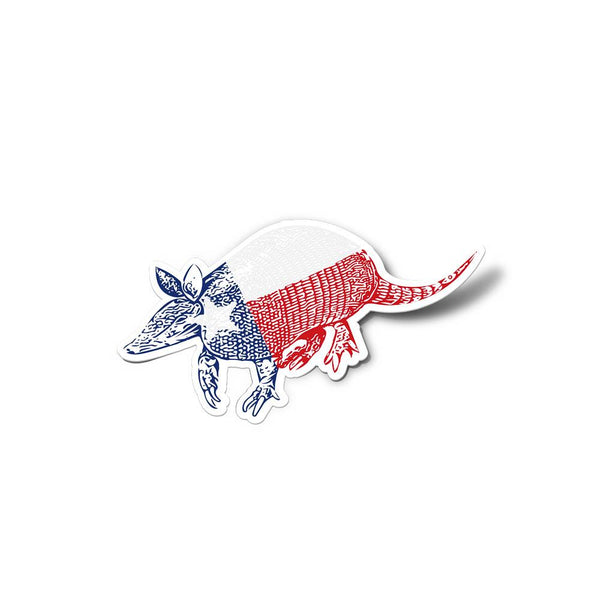 Armadillo Texas Flag Sticker