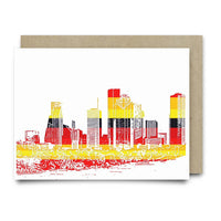 Houston Skyline | Astros Orange and Blue - Cards