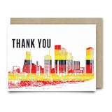 Houston Skyline Thank You - Cards