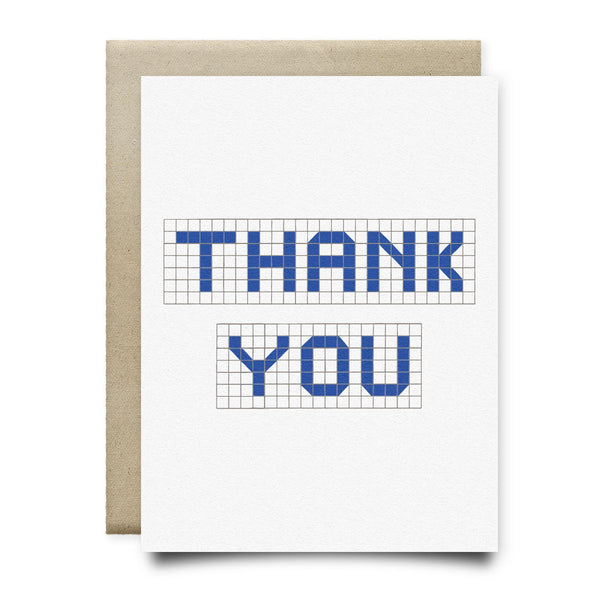 Thank You | Houston Blue Tiles Greeting Card - Cards