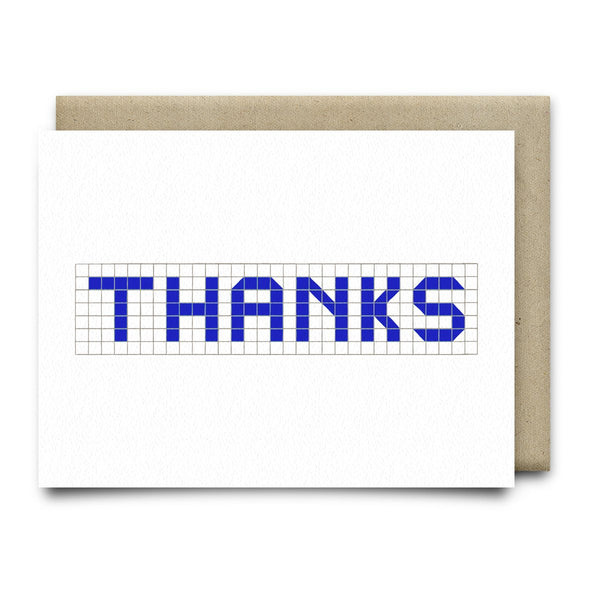 Thanks | Houston Blue Tiles Greeting Card - Cards