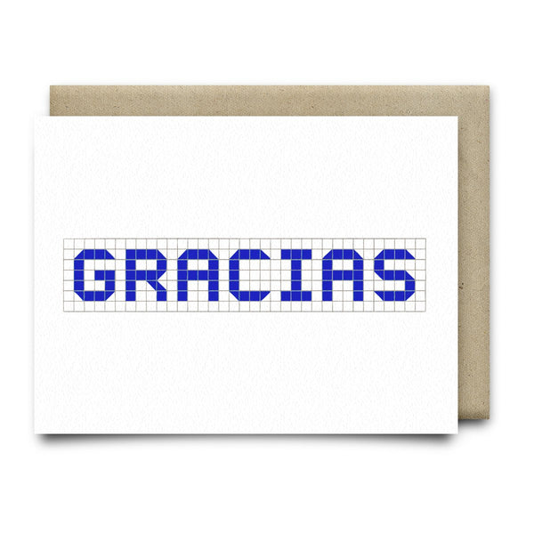 Gracias | Houston Blue Tiles Greeting Card - Cards