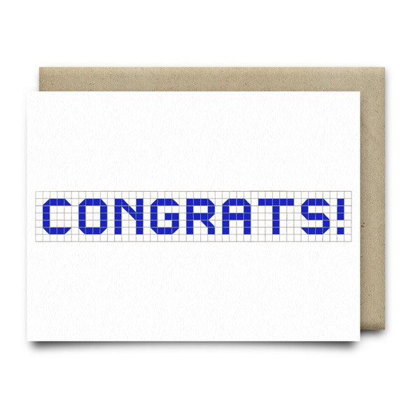 Congrats | Houston Blue Tiles Greeting Card - Cards