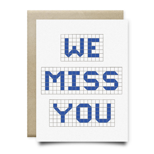 We Miss You | Houston Blue Tiles Greeting Card - Cards