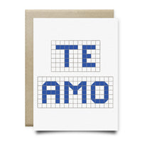 Te Amo | Houston Blue Tiles Greeting Card - Cards