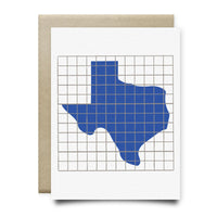 Texas | Houston Blue Tiles Greeting Card - Cards