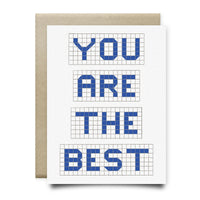 You Are The Best | Houston Blue Tiles Greeting Card - Cards